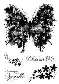 Woodware - Butterfly Sparkle - Clear Magic Stamp Set - FRS678